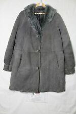 Montone Shearling Tg. mancante (Cod.G58) usato Grigio vintage cappotto Donna