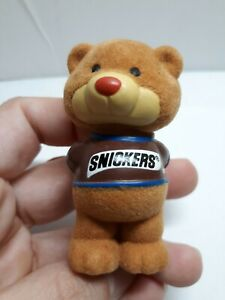 Snickers arms in back  Furry Bear Chocolate Chums Figurine Collectible Vtg 1987