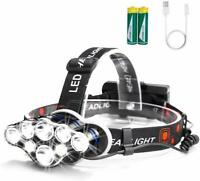 Arzopa Flashlight Front Rechargeable LED 8 Leds and 8 Modes Waterproof -