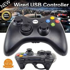 Wired Xbox 360 USB Remote Game Controller Gamepad for PC Windows XBOX 360 Black