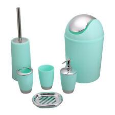 6pcs/Set Bathroom Accessory Bin Soap Dish Dispenser Tumbler Toothbrush Holder