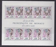 Monaco 1989 Comme neuf neuf sans charnière Minisheet Principauté Europa Childrens PLAYGROUND JEUX