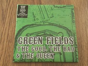 """THE GOOD THE BAD & THE QUEEN - GREEN FIELDS 2x7"""" 2007 PARTS 1 & 2 NEAR MINT / EX"""