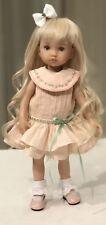 "Boneka Peach Embroidered Drop Waist Dress 24cm 10"" Effner Tuesday Child Doll sd3"