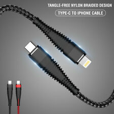 For iPhone (iOS) To Type-C Fast Charging & Data Transfer Nylon Braided Cable