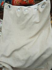 Pair Of Ivory Chenille Ringtop Lined Curtains 64 In W X 70d