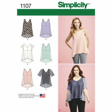 Simplicity Sewing Pattern 1107 Inc Plus SZ 4-26 Misses' Tops Fabric Variations