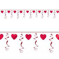 VALENTINES DAY HEART SWIRLS GARLAND PARTY ENGAGEMENT  ALICE IN WONDERLAND HEARTS