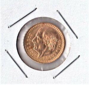 1945 Mexican Gold 2.5 Pesos Coin Dos y Medio Mexico