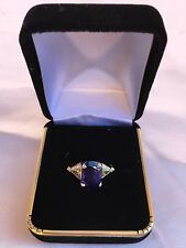 MAGNIFICENT NON HEATED 4.66 CT BURMA SAPPHIRE, DIA SWISS RING WITH CERTIFICATE