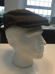 GOORIN BROS HARRIS TWEED FLAT CAP,MEDIUM