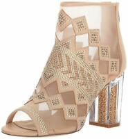 Katy Perry Women's THE THE NAKANO Ankle Boot, Nude, Size 7.5