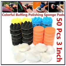 50X  Polishing Pad Car waxing Car Polisher Buffing Polishing Sponge Pads 80mm 3""
