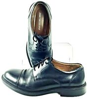 Johnston Murphy Tabor Oxford Mens 9.5 M Black Leather Cap Toe Lace Up Dress Shoe
