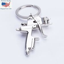 SPRAY PAINT Gun Silver Metal KEY CHAIN Ring Pendant KEYCHAIN Accessories NEW