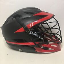 Cascade R Lacrosse Helmet Black & Red adjustable S w/chin strap