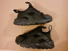 NIKE BLACK HUARACHE BABY TRAINERS SHOES SIZE INFANT 4.5 BRAND NEW