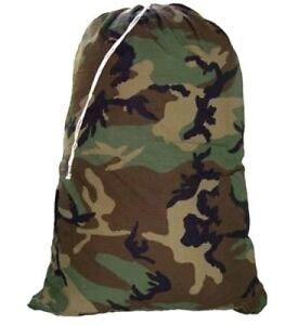 Heavy Duty EXTRA LARGE Nylon Laundry Bag CAMOUFLAGE 30 X 40 Locking Drawstring..