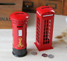 Vintage Red Mailbox/telephone Box Unusual gift for him or her Money Box Savings