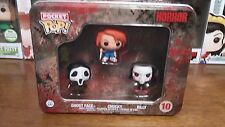 Funko Pocket Pop! Movie Horror: 3 Pack Tin! Ghost Face, Chucky, Billy! Vaulted!