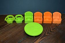 Vintage Fisher Price LITTLE PEOPLE Lot replacement Parts Chair Table Furniture