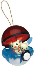 PLUSLE & MINUM Pokemon Christmas Ornament Poke Ball Holiday Anime Basic Fun