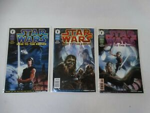 3 Dark Horse Comics 1995 Star Wars Heir To The Empire #1, 3, & 4 Unread NM+
