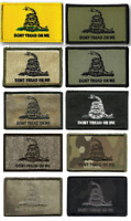 """Morale Patch Hook Gadsden DTOM Don't Tread On Me Patches 3x2"""""""