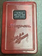 Snap On 15pc Hex Key Set