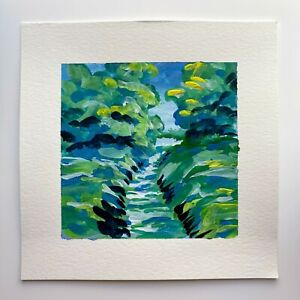 Impressionist Landscape Painting, Original Art, Gallery Wall Painting, River