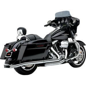 Cobra Center Pro Chrome Motorcycle Slip on Mufflers 09-16 Harley Touring FLHX