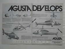 4/1981 PUB AGUSTA 101 G 105 106 129 109 CIVIL MILITARY HELICOPTER ORIGINAL AD
