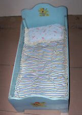 Vintage 1940s Doll Crib Bed With Original Decals