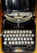 Antique BING NO.2 COMPACT TYPEWRITER W/CASE GERMANY 1920 RARE!!!!!!
