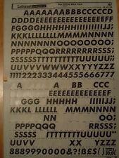 Letraset frotar en carta transferencias futura Negrita Cursiva capitales 48 pinta (#167) Usado