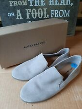 Womens Lucky Brand Chinchilla UL Oiled Suede Flats Slipon Shoes