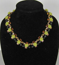 NWOT Authentic J Crew Firefly flower collar necklace Retail $98 Item F6486