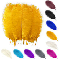 5/10/25Lot 16-18in Natural Ostrich Feathers Plumes DIY Handwork Party Home Decor