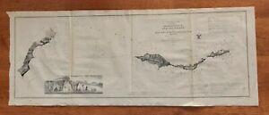 1856 Antique Rare Original US Coast Survey Anacapa Island/Santa Cruz California