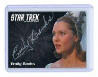 Star Trek TOS Silver Emily Banks as Tonia Barrows Auto Autograph Card
