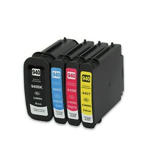 4 Pack NON-OEM 940XL INK CARTRIDGE for HP OFFICEJET PRO 8000 8500 8500A HP940