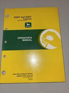 John Deere 9300T 9400T Tractors Operator's Manual OMAR177997 J0 Serial 901,001-