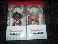 Campbell Soup Kids Nodder Bobble Head Set of 2 in Original Boxes