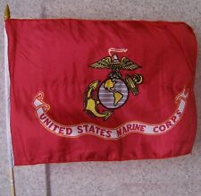 Stick Flag 12x18 with Car Window Clip or Hand Held Military Marine Corps NEW