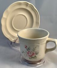 Pfaltzgraff Tea Rose set of four 8 Oz Cups, with Saucers VGUC, 3 Sets Available