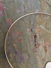 """14 KT Rose Gold Round Neck Wire Omega Collar Chain Necklace 16"""" NEW Lightweight"""