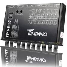 Timpano 7 banda ecualizador gráfico Ecualizador de control de nivel del Subwoofer 1/2 DIN TPT-EQ7