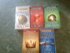 George R R Martin Game Of Thrones x5 A Song of Ice & Fire 1-5  VGC