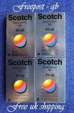 4 X Scotch P5-60MP 8MM-Hi8 y las cintas/cassettes video 8 Videocámara garantía de vida