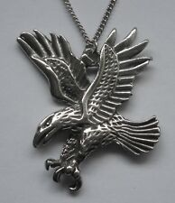 Chain Necklace #1554 Pewter EAGLE in FLIGHT (55mm x 42mm) PENDANT